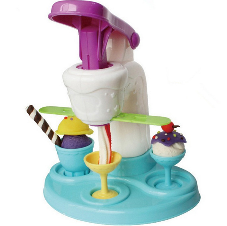 Clay Polymer Ice Cream Machine Play Doh Plasticine Fimo Polymer Clay Diy Playdough Tools Toys For Children Special Offer New(China (Mainland))