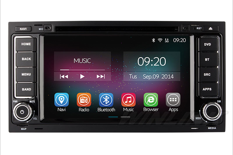 Quad Core Android 4 4 Car Stereo for VW Touareg T5 with Radio Bluetooth GPS Navigation