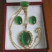 Atacado conjuntos de jóias para as mulheres choker anime belas natural fashion rosa verde vermelho branco opal colar pingente brinco conjunto anel(China)