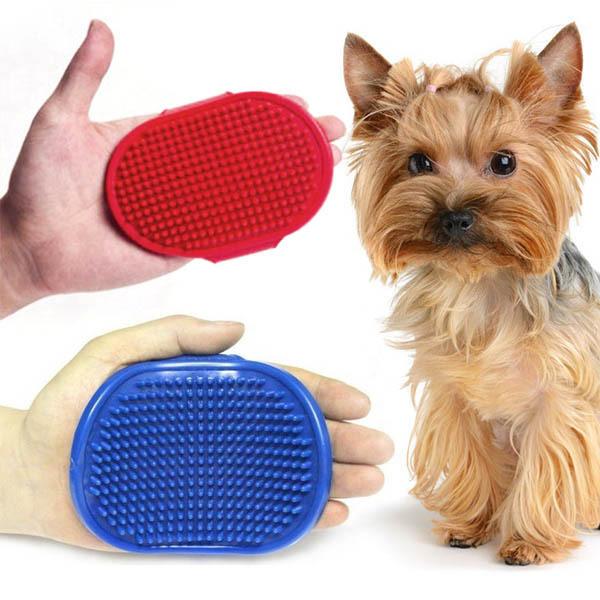 Pet Supplies Dog Puppy Cat Bath Brush Rubber Shower Cleaning Massage Brush(China (Mainland))