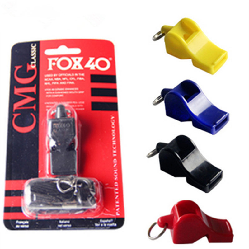 EDCGEAR fox40 Whistle Plastic FOX 40 Soccer Football Basketball Hockey Baseball Sports Classic Referee Whistle Survival Outdoor(China (Mainland))