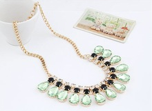 YANA Jewerly 2014 New Fashion jewelry Gem statement Gold Plated Necklaces Pendants choker necklaces for women
