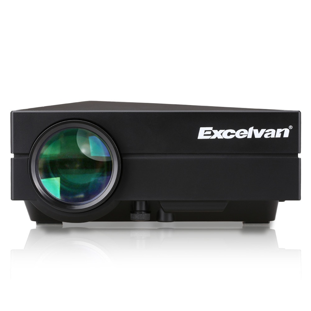 Excelvan gm60 mini portable led projector for video games for Portable video projector