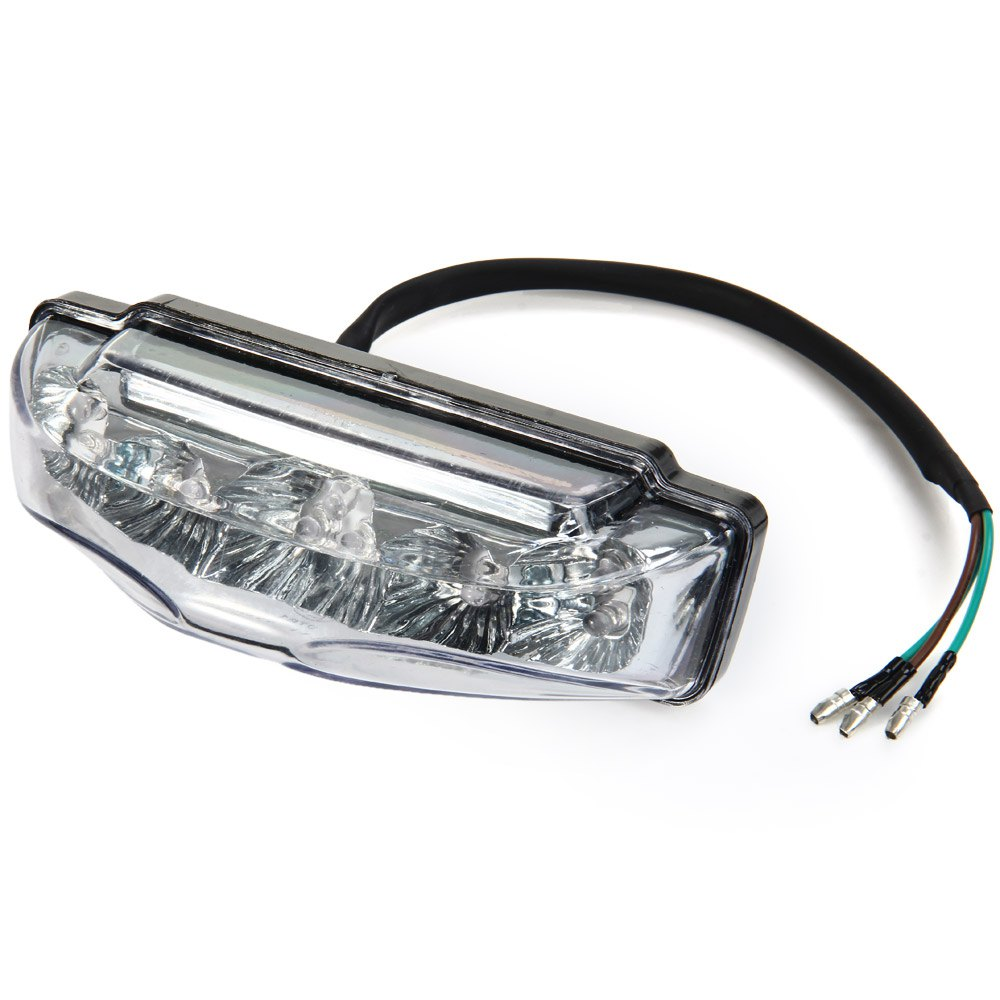 Motorcycle 9 LED Tail Rear Red Light Lamp DC 12V Clear Lens LED Brake Tail Lights Motorcycle Rear Turn Indicators for Motorbike(China (Mainland))