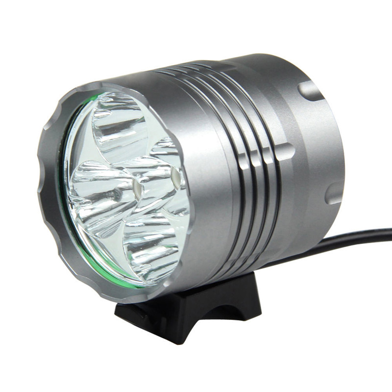 Wholesale 5Pcs Bicycle Bike Front Light Ultra Bright 8000LM LED Mountain Bike Bicycle Head Light Cycling Accessories EA14(China (Mainland))