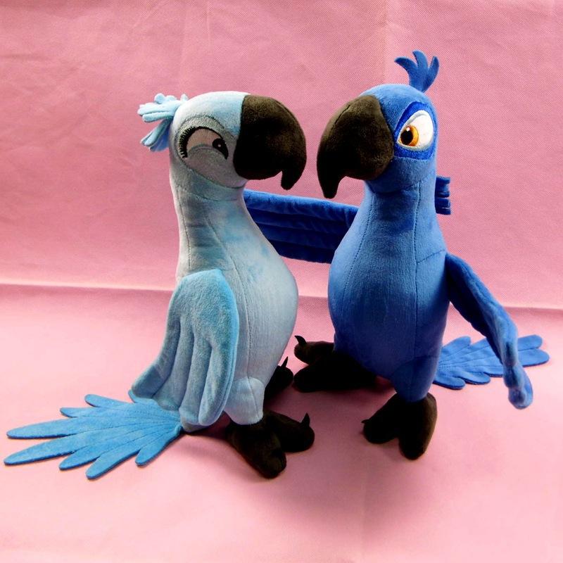30cm Rio 2 Blu and Jewel Plush Dolls Blue Birds Plush Toys for Kids Children Doll Christmas Gift Free Shipping(China (Mainland))