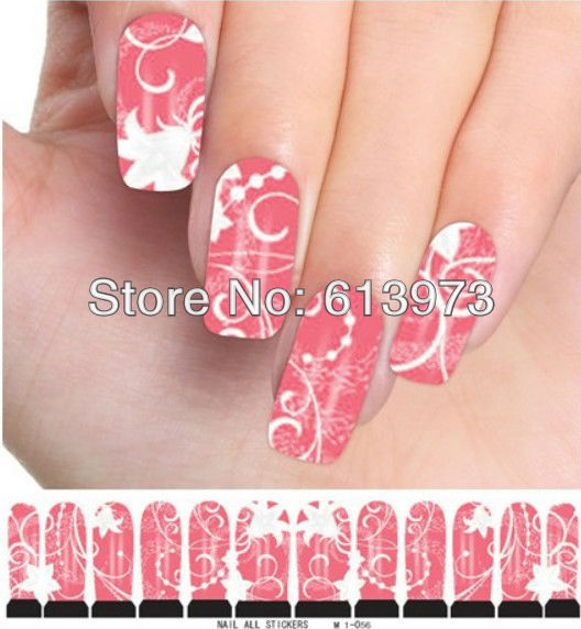 M1-056 Style Water decals Nail Stickers Full Cover tips Fingernail Beauty Desgin - Coner Love store