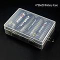 Soshine 4 26650 Battery Storage Box 26650 Battery Holder Case Holder Case 26650 with Hook Holder