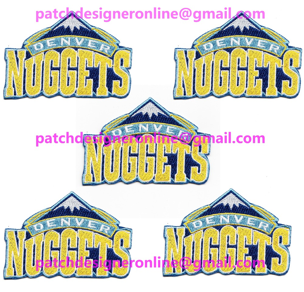 LOTS 5 PCS NEW BASKETBALL Denver Jersey Sports Iron On sew on Embroidered Patch Badge 2.5'' x 3.6''(China (Mainland))