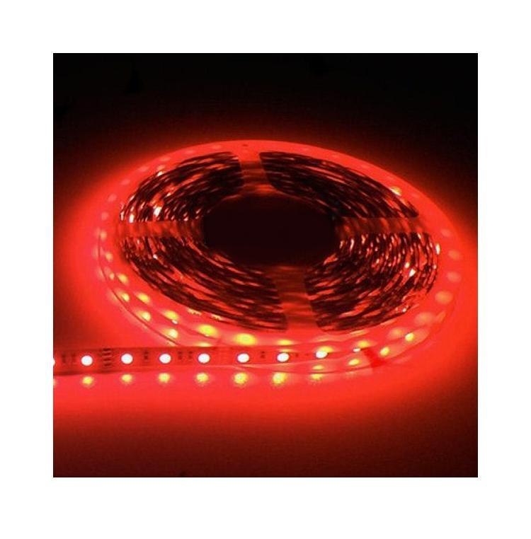 5m SMD 5050 Red Waterproof LED Strip 300 LEDs Light Flexible 12V 60leds/m EQC214(China (Mainland))