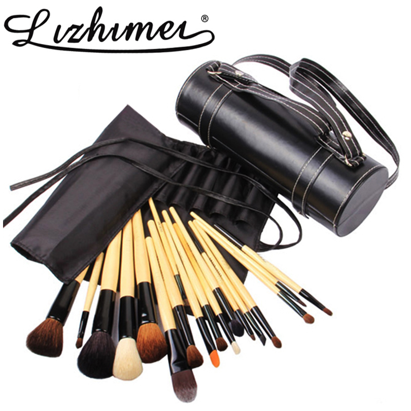 bob Newest 18 pcs Cylinder case Professional Makeup Brush Set Goat Hair Make up Brush Kit Cosmetic eyes face Lip Tool maquiagem<br><br>Aliexpress