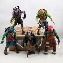 Newest Hot Selling 5 pieces/set 11cm Anime Cartoon TMNT Teenage Mutant Ninja Turtles PVC Toy Action Figure Toys Dolls KA0429