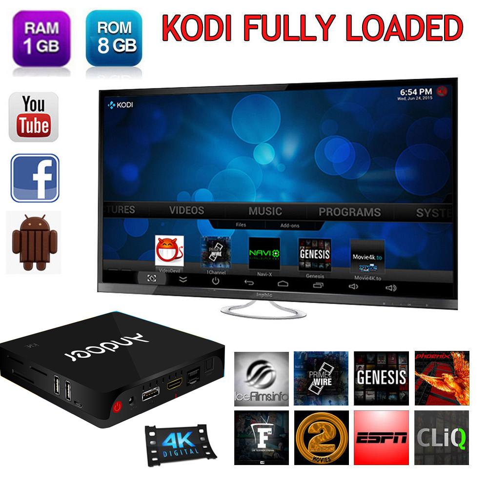 Andoer i68 2.4G WiFi Set Top TV Box 1G/8G RK3368 64bits Octa Core Cortex A53 Kodi XBMC Miracast DLNA Android 5.1 PC Media Player