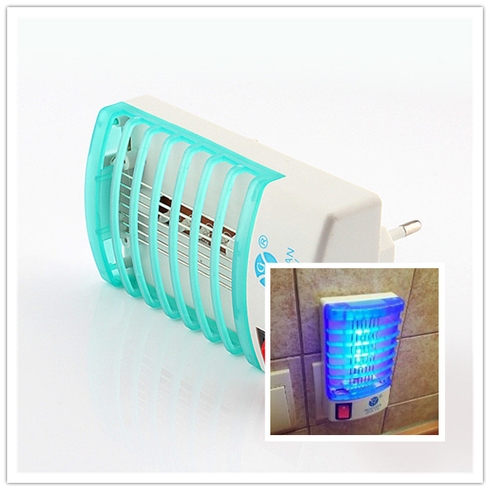 1W 220V/110V LED Electric mosquito killer lamp Mosquito Repellent Bug Insect Killer Trap Night Lamp Zapper(Hong Kong)