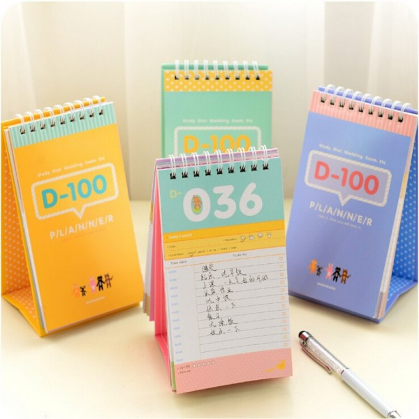 4 pcs/Lot Daily planner 2015 Agenda diary for study notebooks stationery caderno material escolar School supplies<br><br>Aliexpress