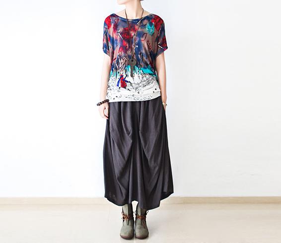 2016 летний стиль женщины с коротким рукавом шею свитера широкий Большой размер корейской ...