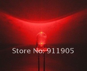 free shipping 200pcs/lot 5mm LED red water clear led diode diodes round LED Light Emitting Diode