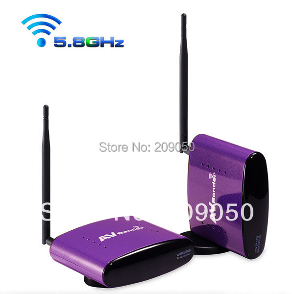 5.8GHz Smart Digital STB Wireless Sharing AV Sender TV Video Transmitter Receiver with IR Signal Extension Cable Set PAT-556(China (Mainland))