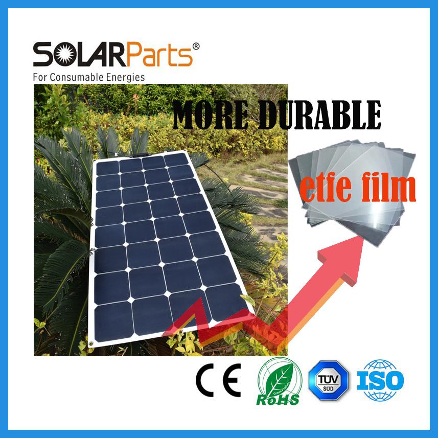 100W semi- flexible ETFE solar panels solar module for RV/Boat/Golf cart/Marine/Yachts/Home use(China (Mainland))