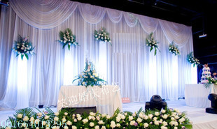 Aliexpress Buy ON SALE READY MADE 6Mx3M White Wedding Backdrop With White Swag For SALE