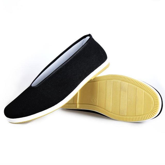 Китайский кунг-фу обувь брюс ли стиль ручной пекин ткани обувь квартиры мужчины черный ...