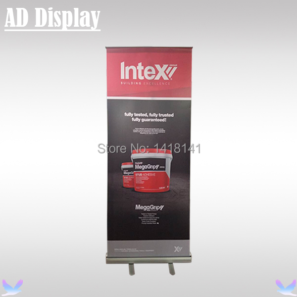 85*200cm Aluminum Portable Roll Up Display With Telescopic Stand,Pull Up Banner,Exhibition Advertising Display Equipment(China (Mainland))