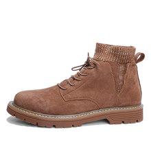 WOLF DIE 2019 Hot Koop Mannen Schoenen Merk Herfst Winter Mannen Laarzen Lace up Warm Mannen Casual Schoenen Mode Sneakers buty meskie X-032(China)