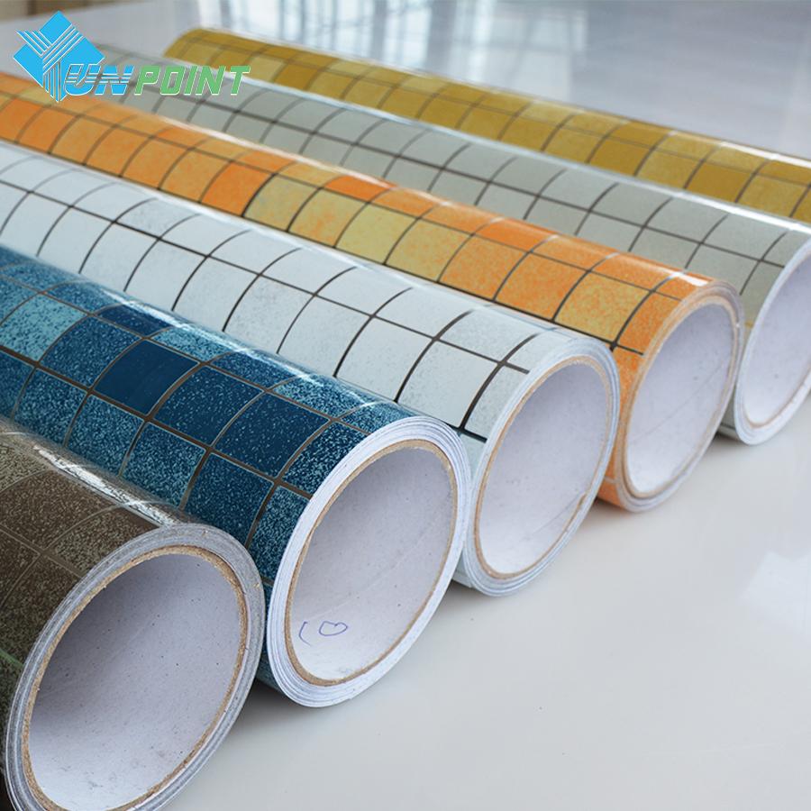 3m /5m Heat Transfer Vinyl Wall paper Kitchen Anti-oil Stickers Self adhesive wallpaper roll mosaic pvc wall stickers home decor(China (Mainland))