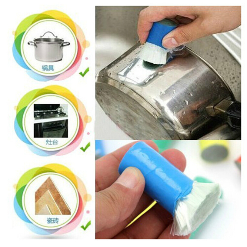 Best Magic Stainless Steel Kitchen Metal Rust Remover Cleaning Detergent Stick Wash Brush Pot Kitchen Cooking Cleaning Tools(China (Mainland))
