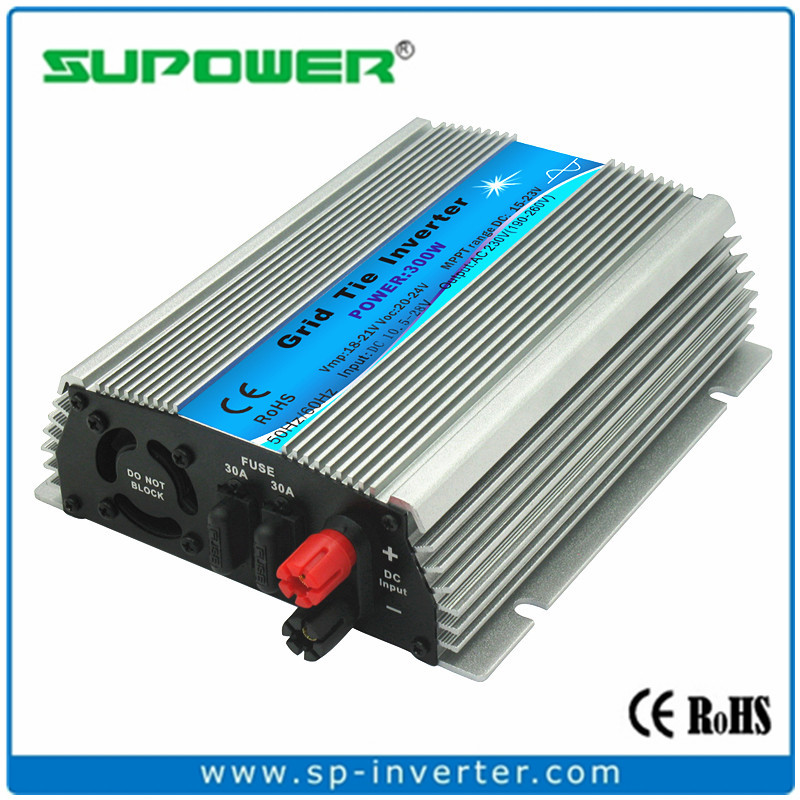 FREE SHIPPING Indoor design 300W Solar Micro Grid Tie Inverter input 10.5-28V DC for Small home Solar Power System(China (Mainland))