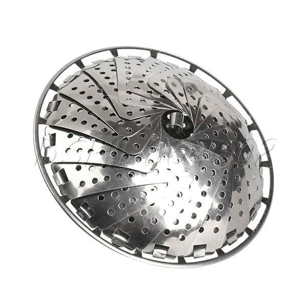 Stainless Folding Food Fruit Vegetable Dish Steam Steamer Basket Plate Cooker