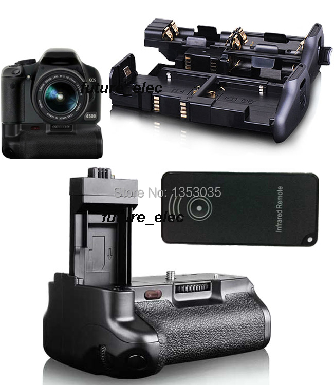 Battery Hand Grip Vertical Power Shutter For Canon EOS 450D 500D 1000D Rebel XSi T1i XS SLR Camera as BG-E5 fit LP-E5 +IR Remote(China (Mainland))