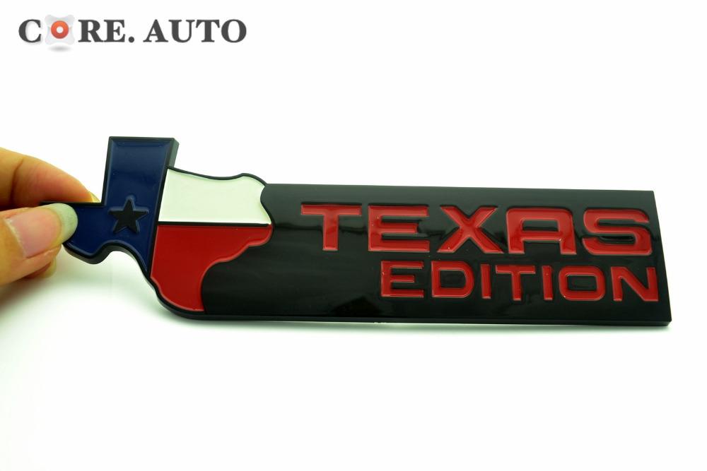 TEXAS EDITION Logo Car Rear Boot Trunk Emblem Badge Sticker For Wrangler Rubicon Compass Cherokee 425rd(China (Mainland))