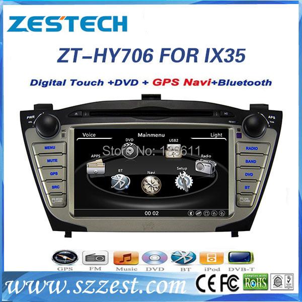 ZESTECH car radio for Hyundai IX35 with 7 inch touch screen OEM 2 din radio for Hyundai(China (Mainland))