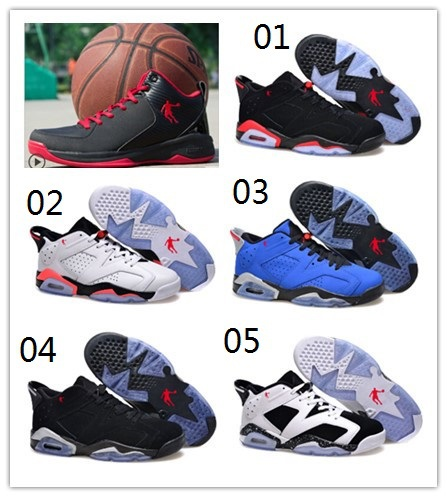 2015 New hot sale best quality China Jordan 6 low retro men basketball shoes cheap for sale Free shipping US size 7 - 13(China (Mainland))