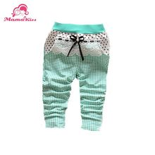 The autumn of 2014 new Korean Infant girl child covered with fine lattice Star Knitting trousers