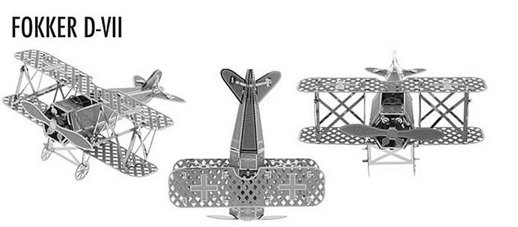1 Piece Metal Works DIY 3D Laser Cut Models/Assemble Miniature Metal 3D Model,Metallic Nano Puzzle-Fokker D-VII(China (Mainland))