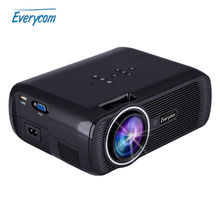 Everycom X7 Mini Projector 1800 Lumens TV Home Theater LED Projector Support Full Hd 1080p Video Media player Hdmi LCD 3D Beamer(China (Mainland))