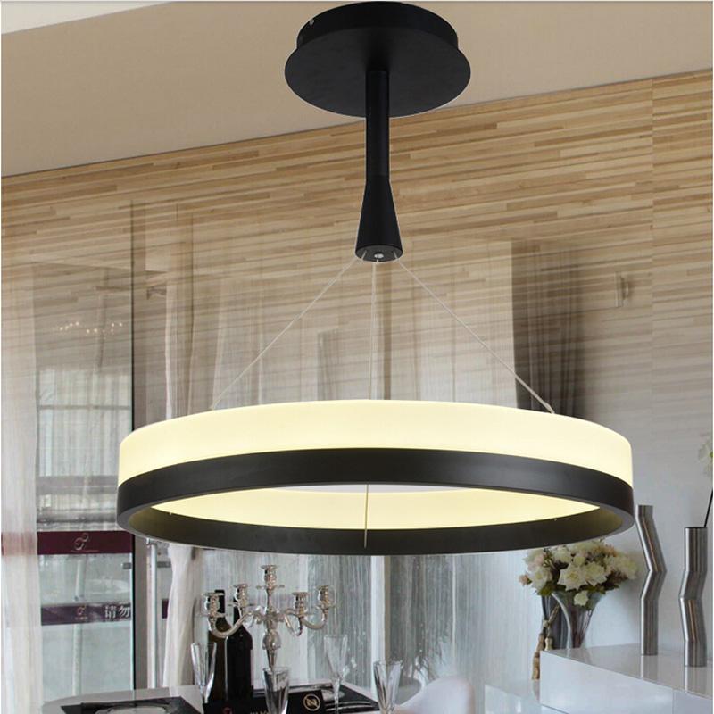WECUS professional export! Modern restaurant LED pendant lamps, universal voltage: AC90-265V, single turn 80cm<br><br>Aliexpress