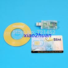 Free Shipping NEW HOT USB 16in1 Sim card Reader Writer Cloner Backup CD(China (Mainland))