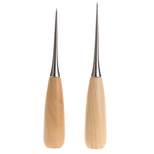 Buy 2Pcs Professional Leather Sewing Awl Wooden Handle Sewing Awl Stitcher Needle Kit Tool Leathercraft Stitching Sewing for $1.44 in AliExpress store