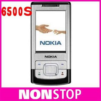unlocked original brand NOKIA  6500s 6500 slide cell phones 3G Bluetooth mp3 player 3.2MP original phones
