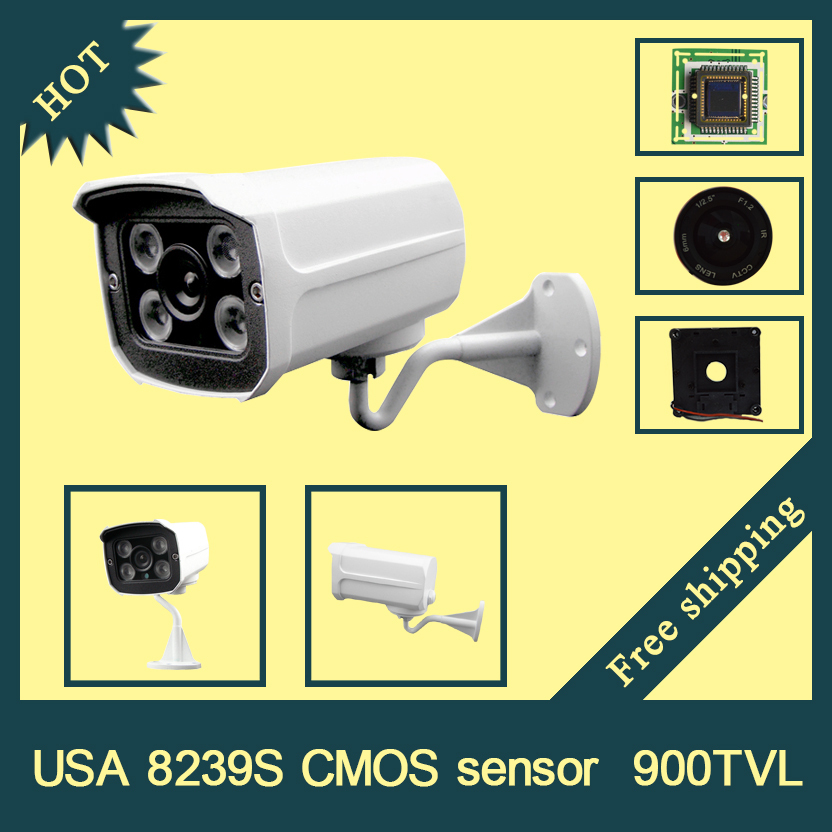 USA 8239S CMOS 900TVL HD camera 3.6/6mm lens four array H.LED with good day and night vision  20M outdoor CCTV camera<br><br>Aliexpress