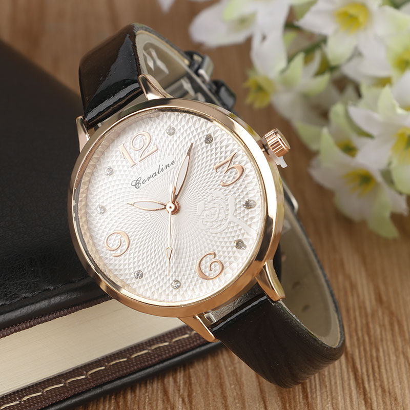 Women's Watches Simple Casual Wristwatches Crystal Diamond Quartz Watches Ladies Beauty Clock Online Sale 2017(China (Mainland))