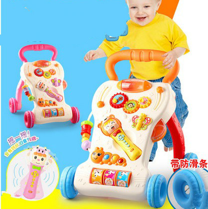 1-3 years old baby walker trolley toys childrens music multifunctional baby learning to walk governor walke<br><br>Aliexpress