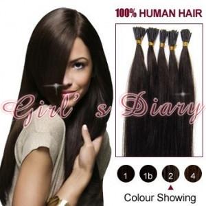 "18""20""22""Remy Italian keratin Stick tip/I-tip #02-Dark Brown Human Hair Extension Human Hair best virgin hair Dropshipping"