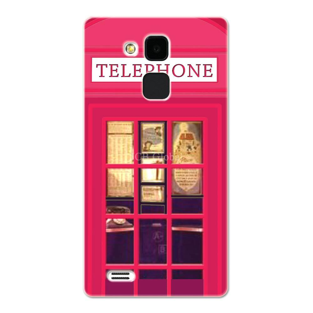 Rose Red London Telephone Booth Case For Huawei mate 7(China (Mainland))