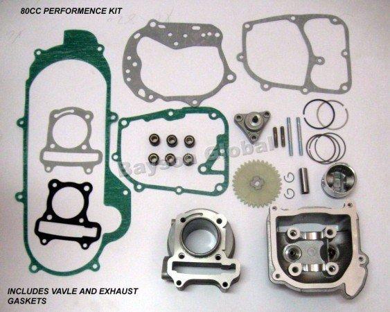 80cc Big Bore Kits 139QMB GY6 50cc Engine (64mm Valve) scooter parts @70001