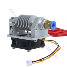 3D Printer parts All Metal Long-distance E3D j-head V2.0 Extruder with cable&cooling fan,1.75/3mm Inlet, 0.3/0.4/0.5mm Optional