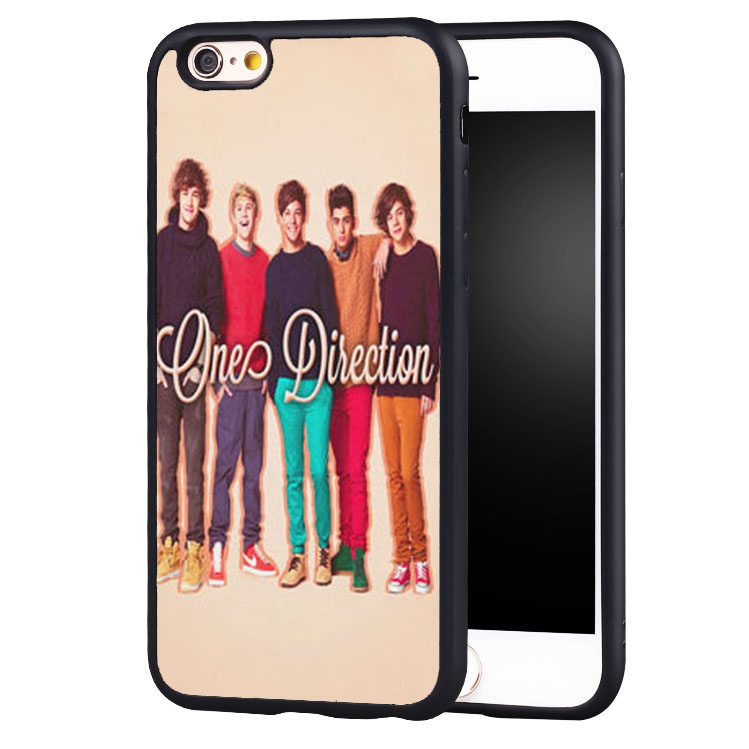 1D ONE DIRECTION Music Band Printed Soft Rubber Skin Mobile Phone Cases For iPhone 6 6S Plus SE 5 5S 5C 4 4S Back Shell Cover(China (Mainland))